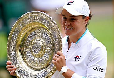 Daily Quiz: How many grand slam women's singles titles has Ash Barty won?