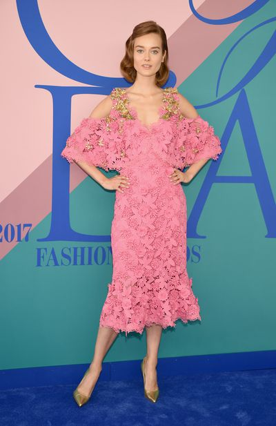 Jac Jagaciak in Kobi Halperin at the 2017 CFDA Awards.