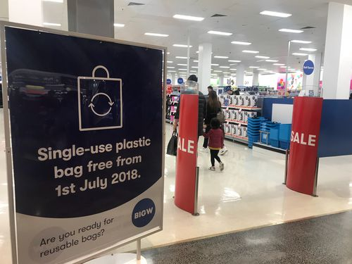 A sign warns of looming changes outside a Big W store in Melbourne.