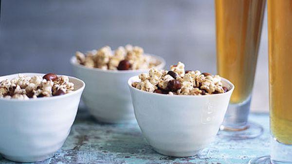 Spiced peanut popcorn