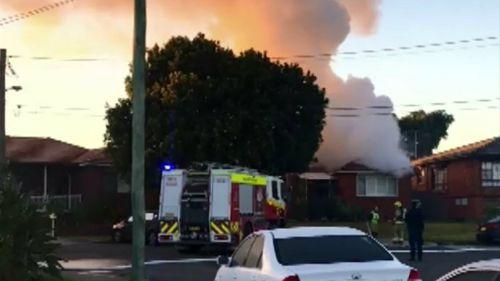 Fairfield Heights family flee burning home