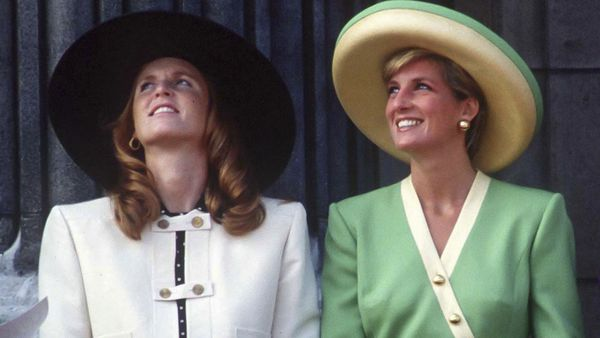 Sarah Ferguson and Princess Diana in 1990
