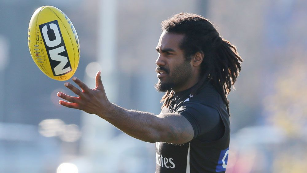 Heritier Lumumba during his playing days for Collingwood. (AAP)