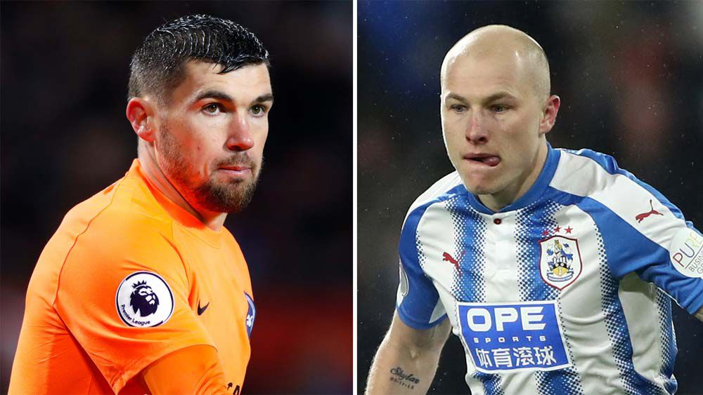 Aaron Mooy and Mat Ryan in the English Premier League