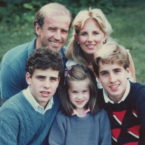 Joe and Jill Biden with their children.