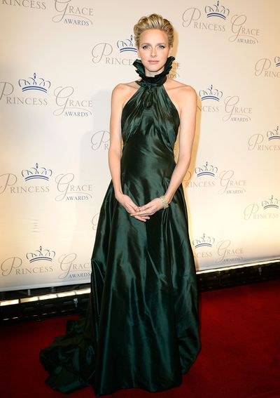 Princess Charlene wearing  by Ralph Lauren at the 2013 Princess Grace Awards in New York in October, 2013