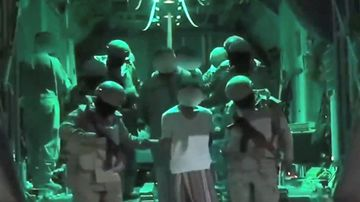 Image from Saudi Foreign Ministry purportedly showing Islamic State fighters captured in Yemen raid.