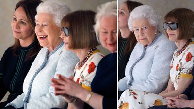 Queen Elizabeth meets Queen of Fashion at London fashion week