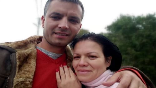 Valentina Suman with her biological brother, Anatoliy. (Supplied)