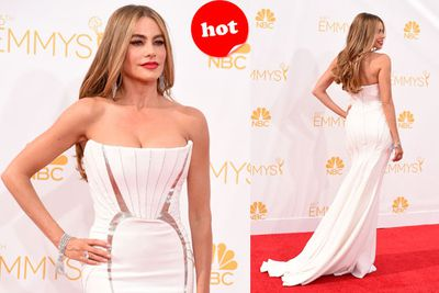 Nobody could ever wear this gown after Sofia Vergara did. Seriously, va-va-voom!