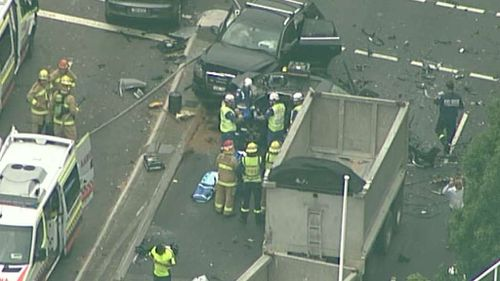 The road will be closed for some time. (9NEWS Choppercam)