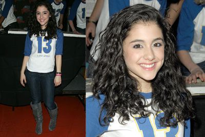 So cute! Ariana was all about the natural Italian curls when she was younger.
