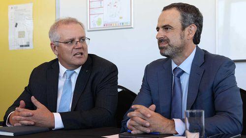 Prime Minister Scott Morrison with AMA President  Omar Khorshid in Perth last month.