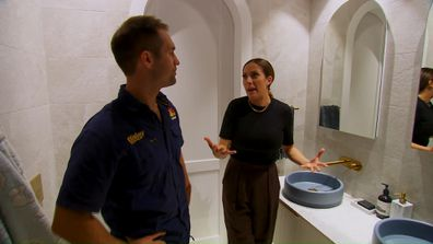 Dan and Dani in Kirsty and Jesse's Master Ensuite.