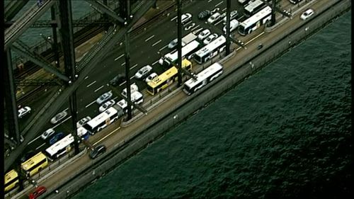 Motorists are also experiencing delays. (9NEWS)
