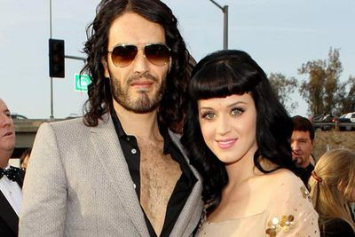 Russell Brand and Katy Parry wed in a luxury resort in northern India. <P>Katy wore a sari and Russell dressed in a traditional Indian outfit. He also arrived on horseback accompanied by camels and elephants. <br/><br/>