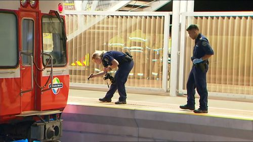 A man was killed after being struck by a train in Adelaide.