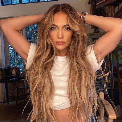 Jennifer Lopez, nude, single cover art, In The Morning, Instagram photo