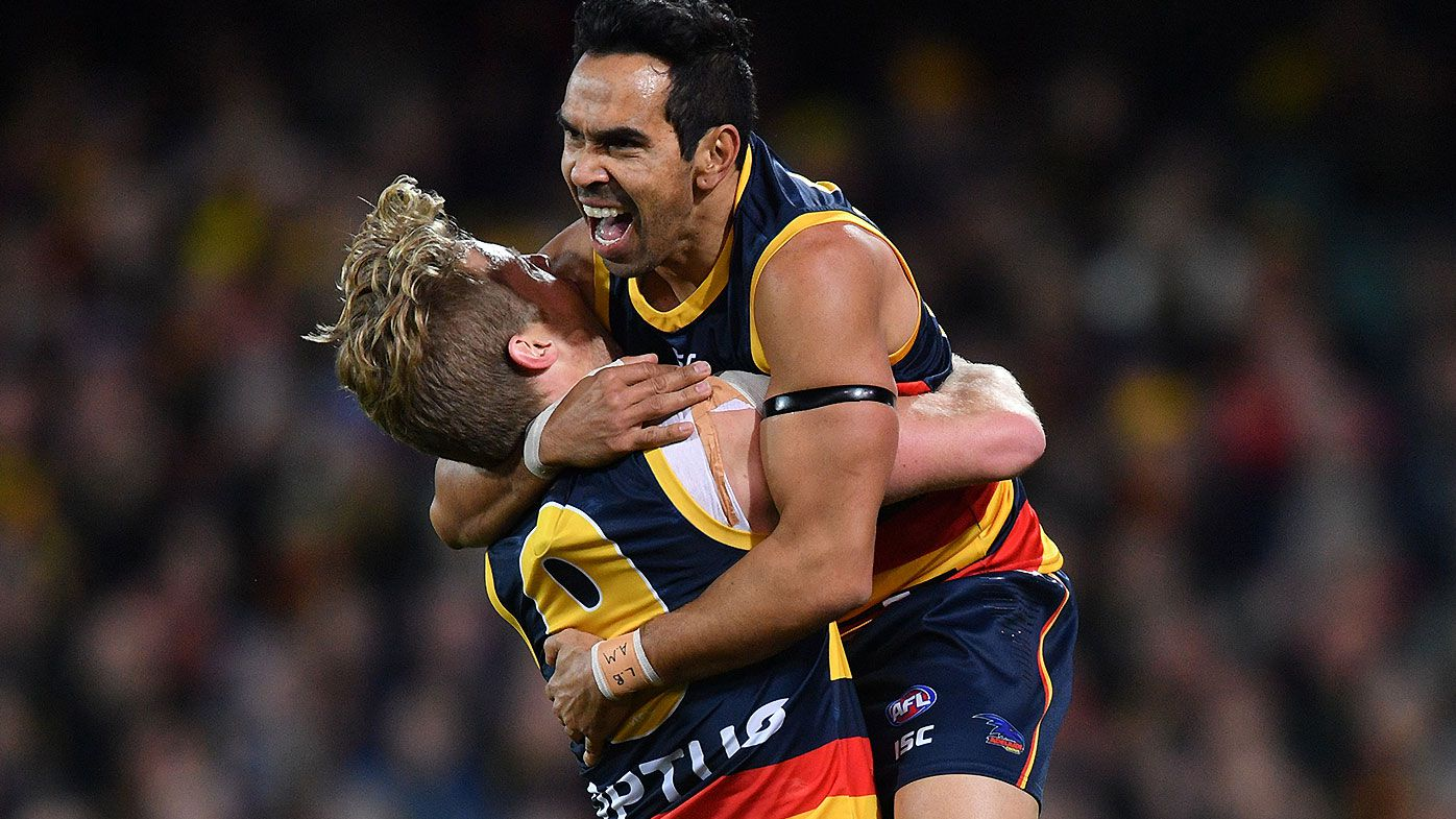 Adelaide Crows star Eddie Betts breaks silence on trade rumours as Blues keep door open