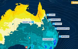 More showers in Tasmania after rainfall records set as Queenslanders told to expect more cool weather