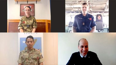 Prince William's Remembrance week video call