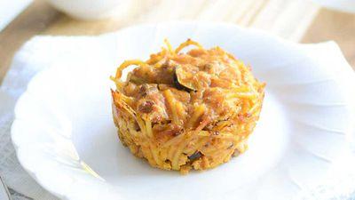 "Recipe: <a href=""https://kitchen.nine.com.au/2017/07/10/18/13/spaghetti-bolognese-leftovers-muffins"" target=""_top"" draggable=""false"">Spaghetti Bolognese leftovers muffins</a>"