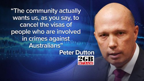 Home Affairs Minister Peter Dutton addressed the issue on radio.