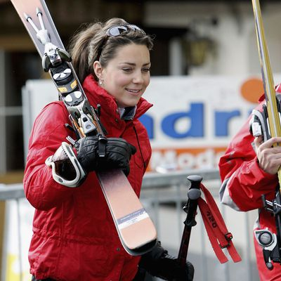 Kate Middleton skis in Switzerland, March 2005