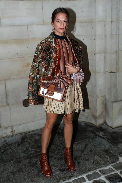 Actress Alicia Vikander attends the Louis Vuitton show as part of the Paris Fashion Week