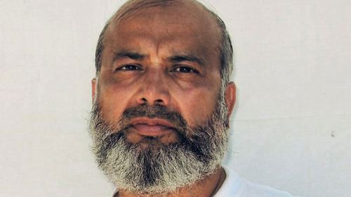 This undated image provided by the counsel to Saifullah Paracha shows Paracha at the Guantanamo Bay detention centre.
