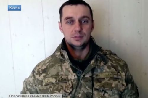 Volodymyr Lisovyi was one of three men who gave statements. Their appearance was condemned by the Ukraine government.