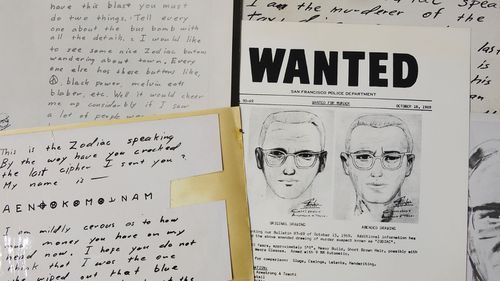 San Francisco Police Department wanted bulletin and copies of letters sent to the San Francisco Chronicle