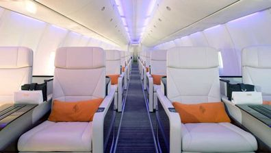 Interior of the Four Seasons private jet.