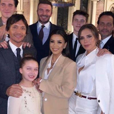 David and Victoria Beckham's kids and godmother Eva Longoria