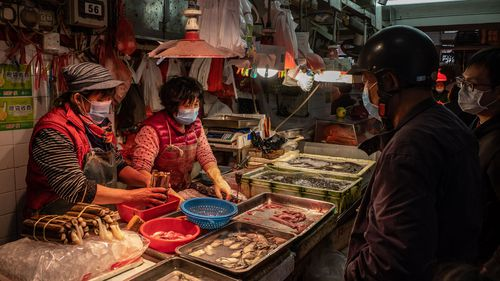 The wet markets in Wuhan, where the virus is believed to have spread from an animal to humans.
