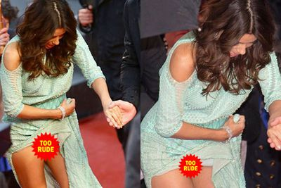 Eva Longoria caused quite a stir at the 2013 Cannes Film Festival...perhaps it's because she went commando on the red carpet and everybody saw?!