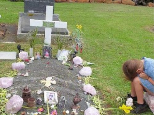 Oliver Tianen's family were unable to afford a grave stone at the Tamborine Mountain cemetery when the schoolboy lost his battle to cancer in 2018