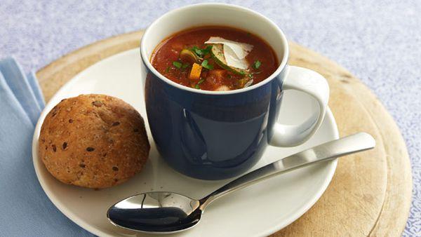 Quick tomato and bean soup: 2.27g fat per serve