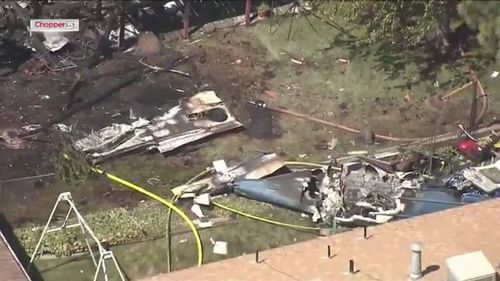 Plane carrying six people crashes into USA home, setting it ablaze