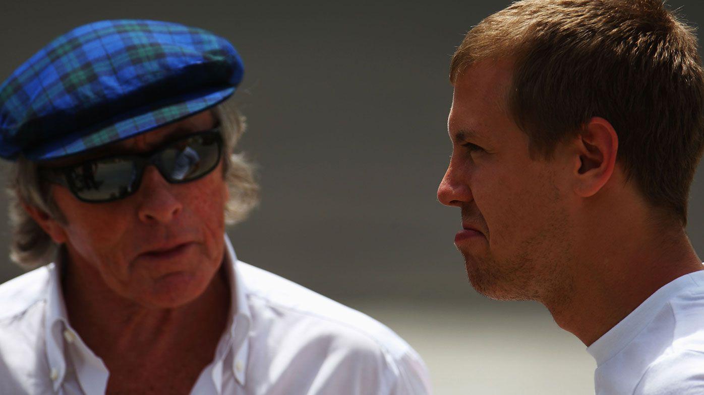 Sir Jackie Stewart with Sebastian Vettel.