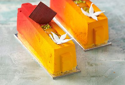 Mango and coconut mousse