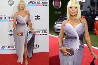 "Regardless of the body backlash, Christina was unapologetic of her curves at the 2012 AMAs. <br/><br/>She commented on the cattiness to <i>Marie Claire</i>: ""I've been through my highs, I've been through my lows [and] I've been too thin. I've been bigger. I've been criticised for being on both sides of the scale. It's noise I block out automatically. I love my body now.""<br/><br/>"
