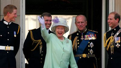 Prince Philip and family, 2005