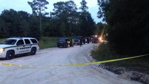 Authorities investigate a murder-suicide in the town of Bell, Florida.