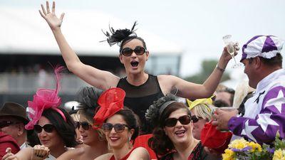 Racegoers enjoy the day. (AAP)