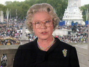 Queen Elizabeth addresses the public following the death of Princess Diana in 1997.