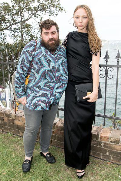 Luke Sales with Louise Van Der Vorstat the Swarovski Rainbow Collection launch in Sydney.