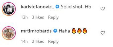 Celebrities react to cheeky Chris Hemsworth birthday posts.