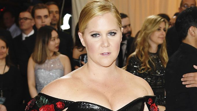 Amy Schumer attends 2017 Met Gala Ball.