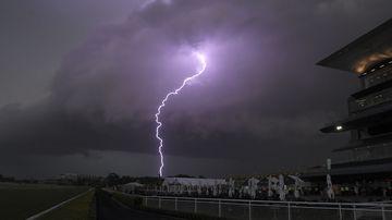 Lightning flashes across Sydney's skyline